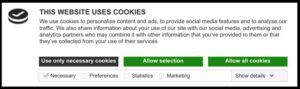 cookie banner-three-button