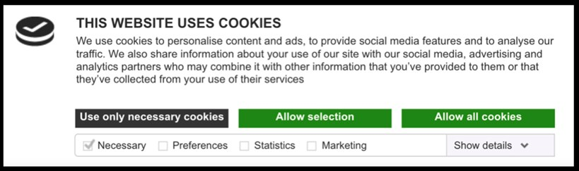 cookie banner-three-button