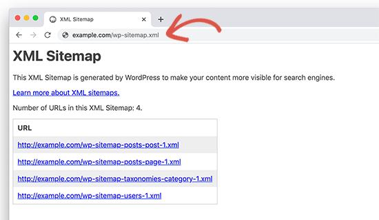 WP 5.5 core sitemap
