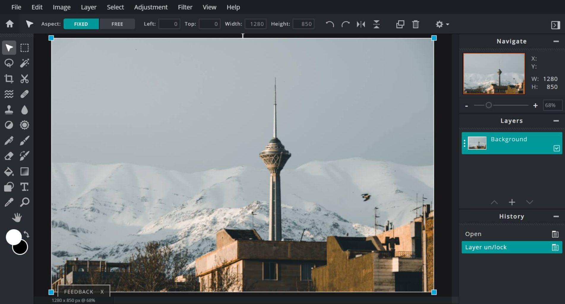 Pixlr: یک ویرایشگر عکس آنلاین حرفه ای