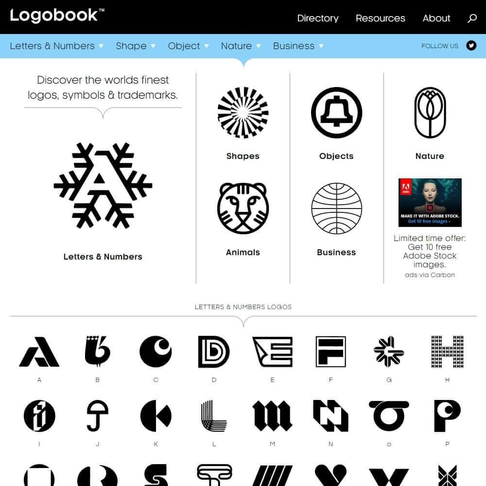 جایی برای الهامگیری از لوگوها