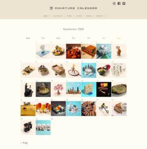 لذت های کوچک روزانه: تقویم مینیاتوری هنرمند ژاپنی