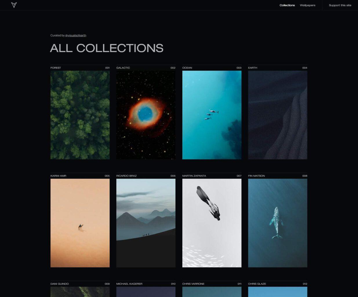 Visuals of Earth: سایتی برای مشاهده و دریافت تصاویر پسزمینه رویایی
