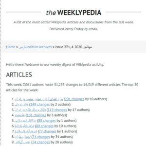 خبرنامه هفتگی ویکی پدیای (Weeklypedia)
