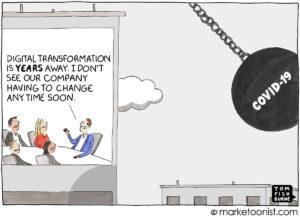 کارتون طنز درباره تحول دیجیتال