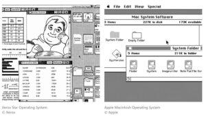 رابط گرافیکی کاربر سیستم عامل زیراکس در برابر مکینتاش اپل