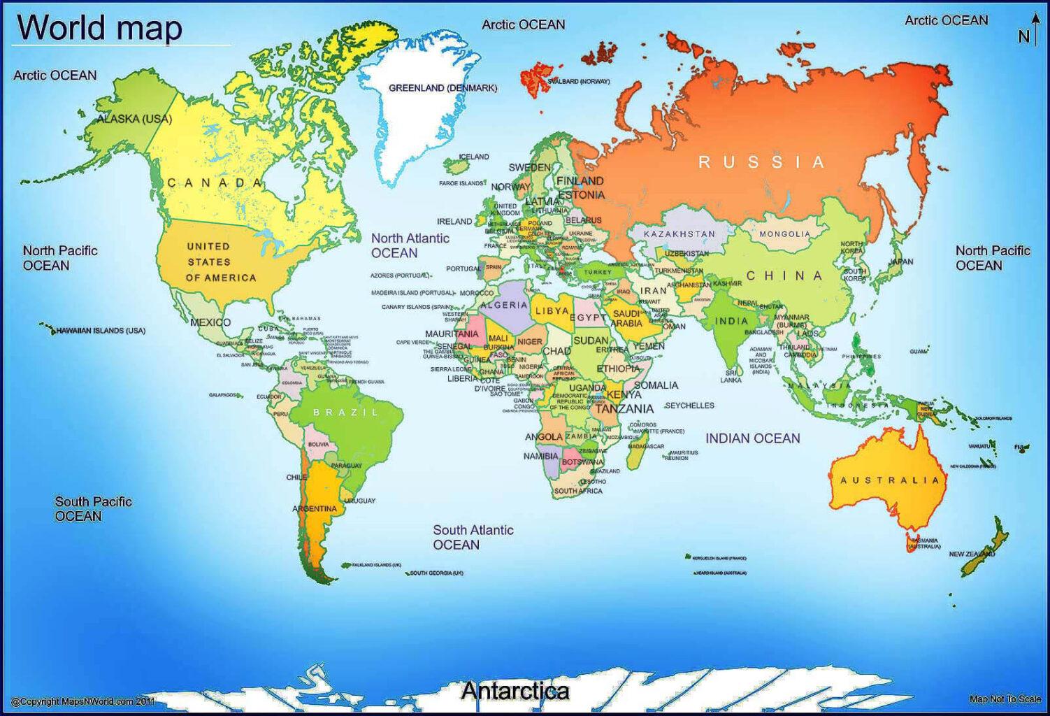 نقشه دنیا