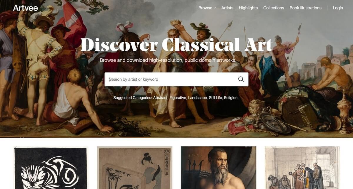 با سایت Artvee هنر کلاسیک را کشف کنید