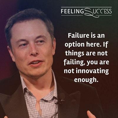 شکست در اینجا یک گزینه است، اگر چیزها شکست نمیخورند، به اندازه کافی نوآوری نمیکنید.