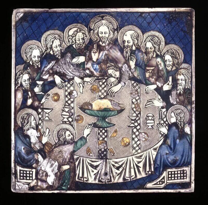 شام آخر، پلاک نقرهای، قرن 14. موزه انگلیس