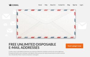 مدیریت ایمیلهای مستعار نیمهدائمی با 33mail