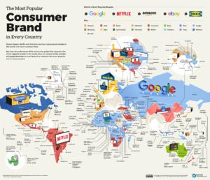 محبوبترین برندهای مصرفکننده در هر کشور