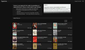 تایپلیت: سایتی برای تمرین تایپ و مطالعه ادبیات کلاسیک