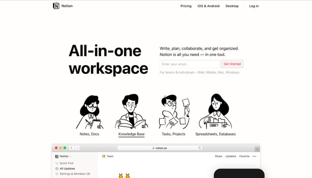 معرفی Notion: یه دفتر کار آنلاین