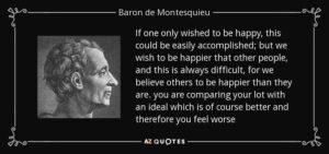 راز شادی و خوشبختی از دیدگاه مونتسکیو