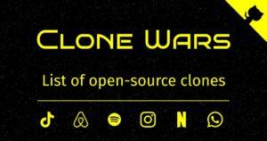 معرفی سایت Clone Wars: لیست کلونهای متن باز سایتهای معروف
