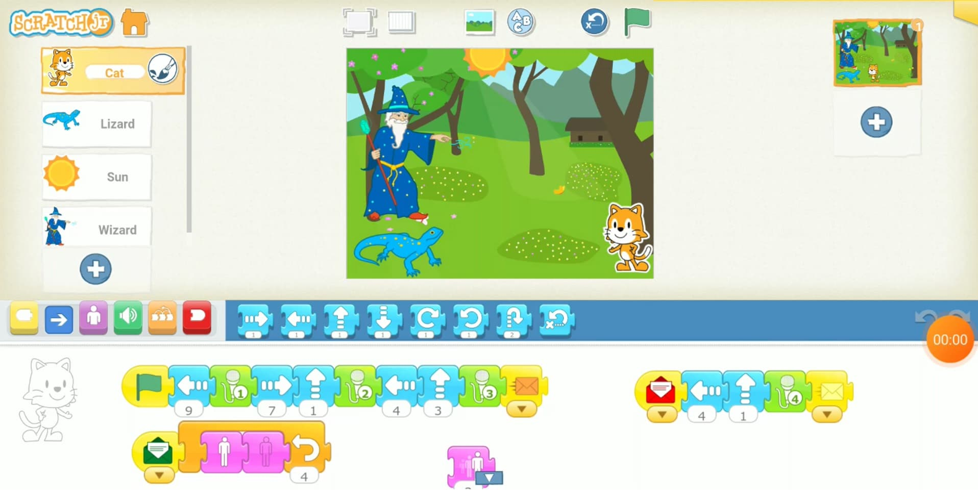 برنامهنویسی و ساخت انیمیشن با برنامه اسکرچ جونیور (ScratchJr): گربه غرغرو