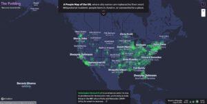 نقشه مردم ایالات متحده آمریکا
