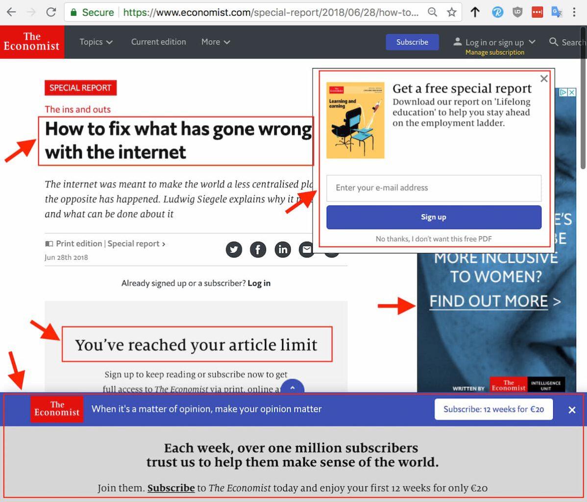 ممنونم Economist، شما واقعاً می دانید اینترنت کجای مسیر رو اشتباه رفته