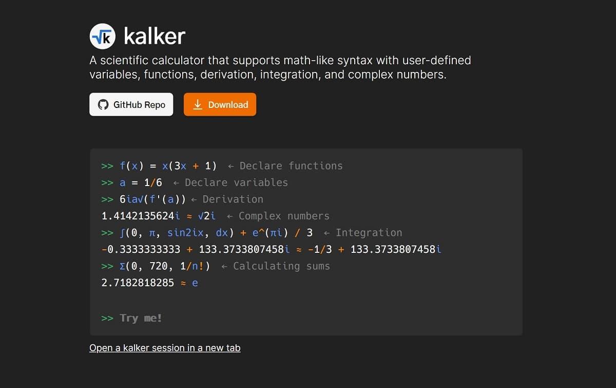 معرفی Kalker: یک ماشین حساب حرفهای